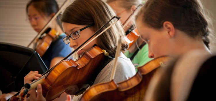 Violinists Rehearsing