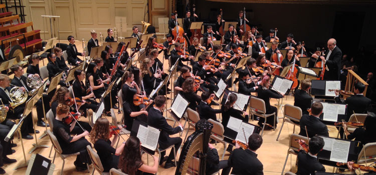 Rivers Youth Symphony at Boston's Symphony Hall