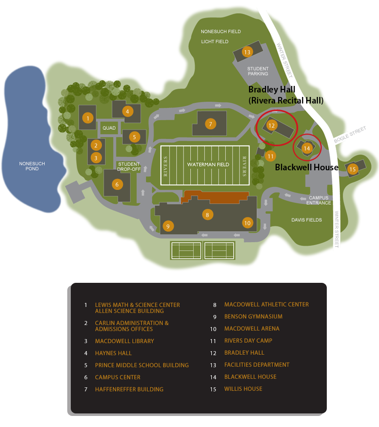 Directions Campus Map The Rivers School Conservatory