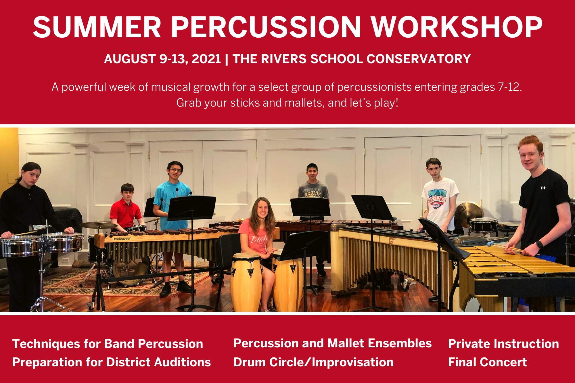 2020 Summer Percussion Postcard